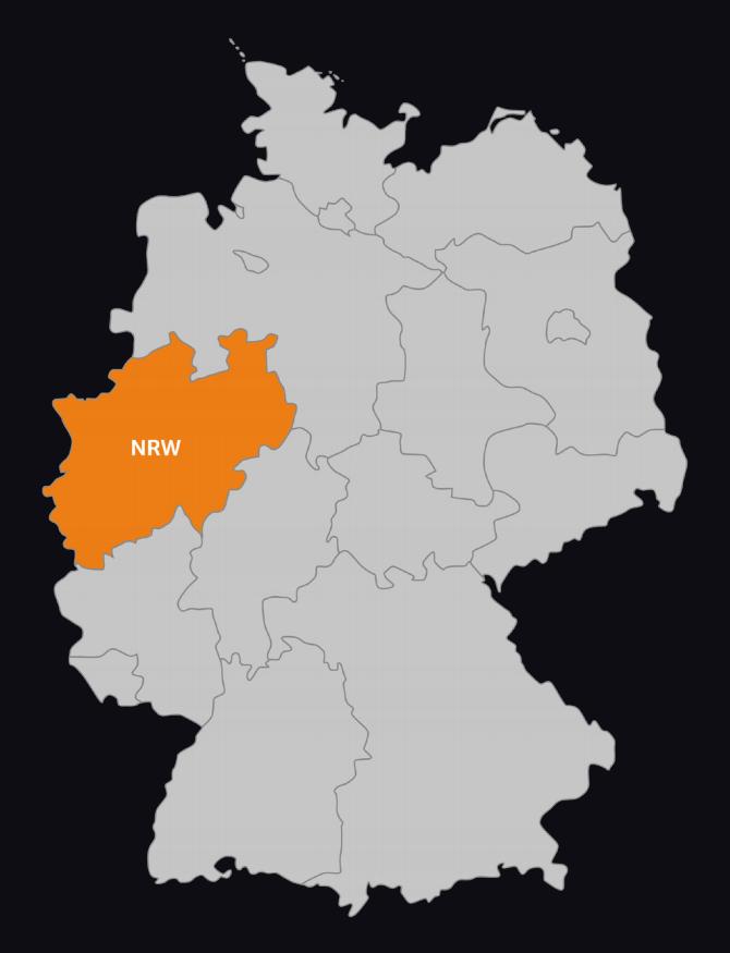 Karte NRW